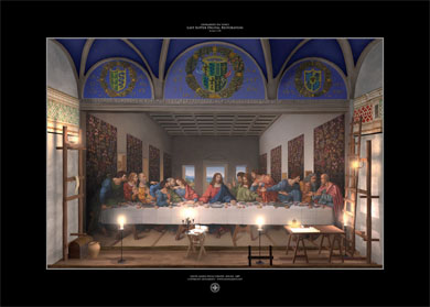 print last supper digital restoration leonardo3 140x100