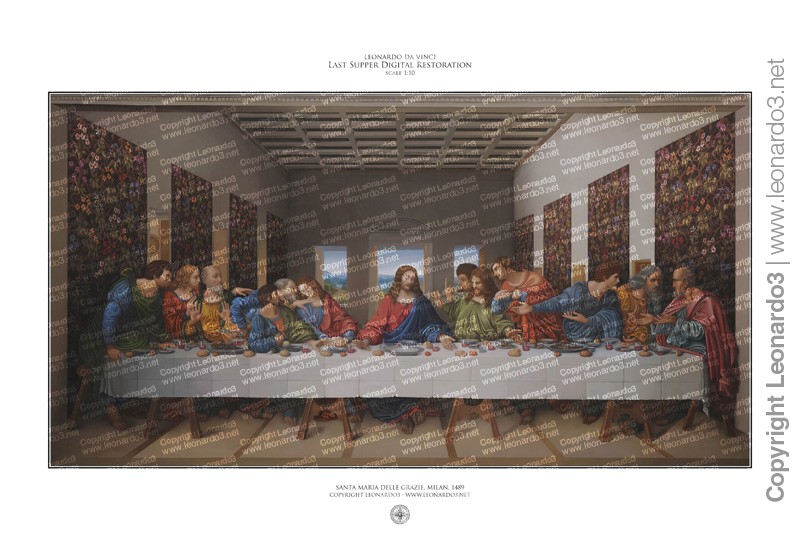 print last supper digital restoration leonardo3 100x70